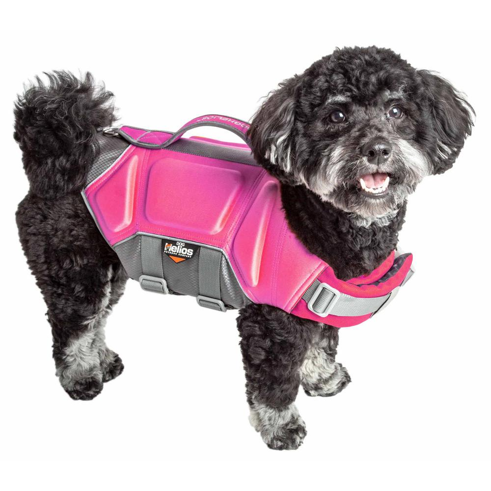 Dog Helios Small Pink Tidal Guard Reflective Pet Dog Life Jacket Vest