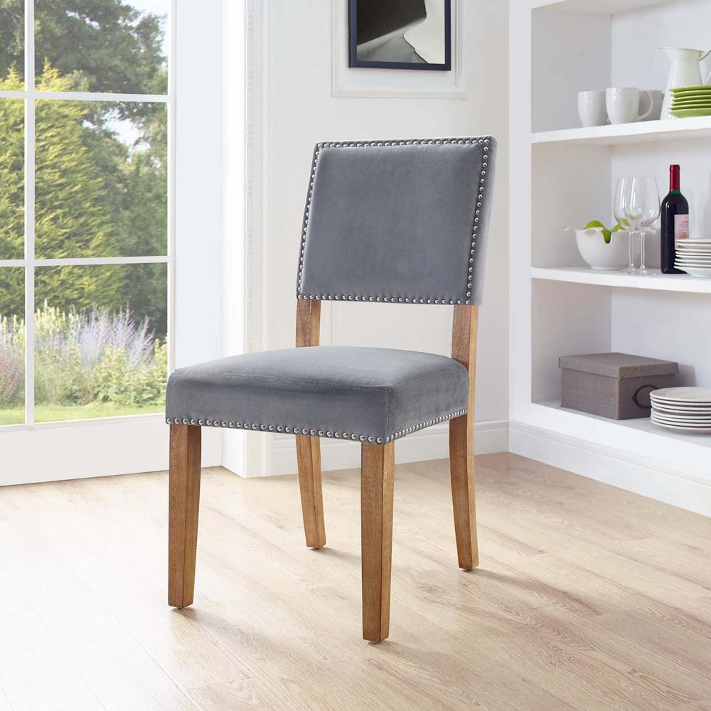 Good Oblige Gray Upholstered Fabric Wood Dining Chair