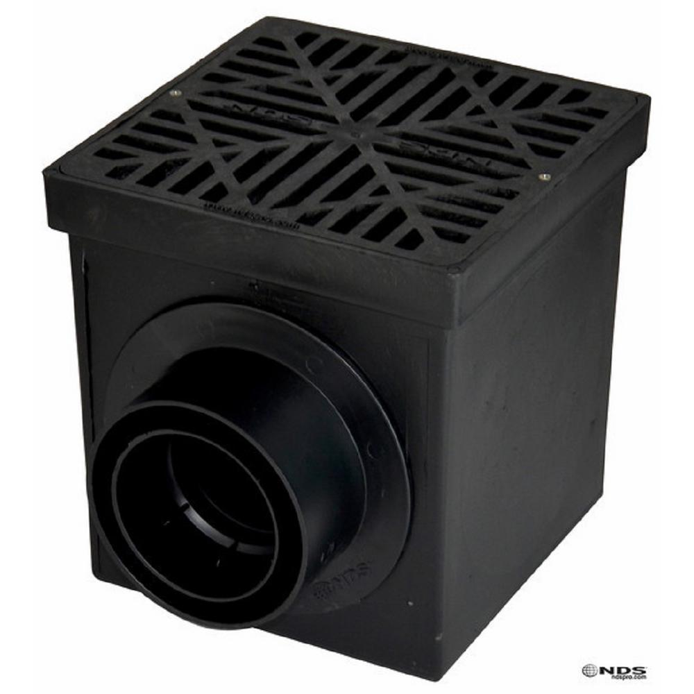 NDS 12 in. x 12 in. Drainage Catch Basin, 2 Opening Kit
