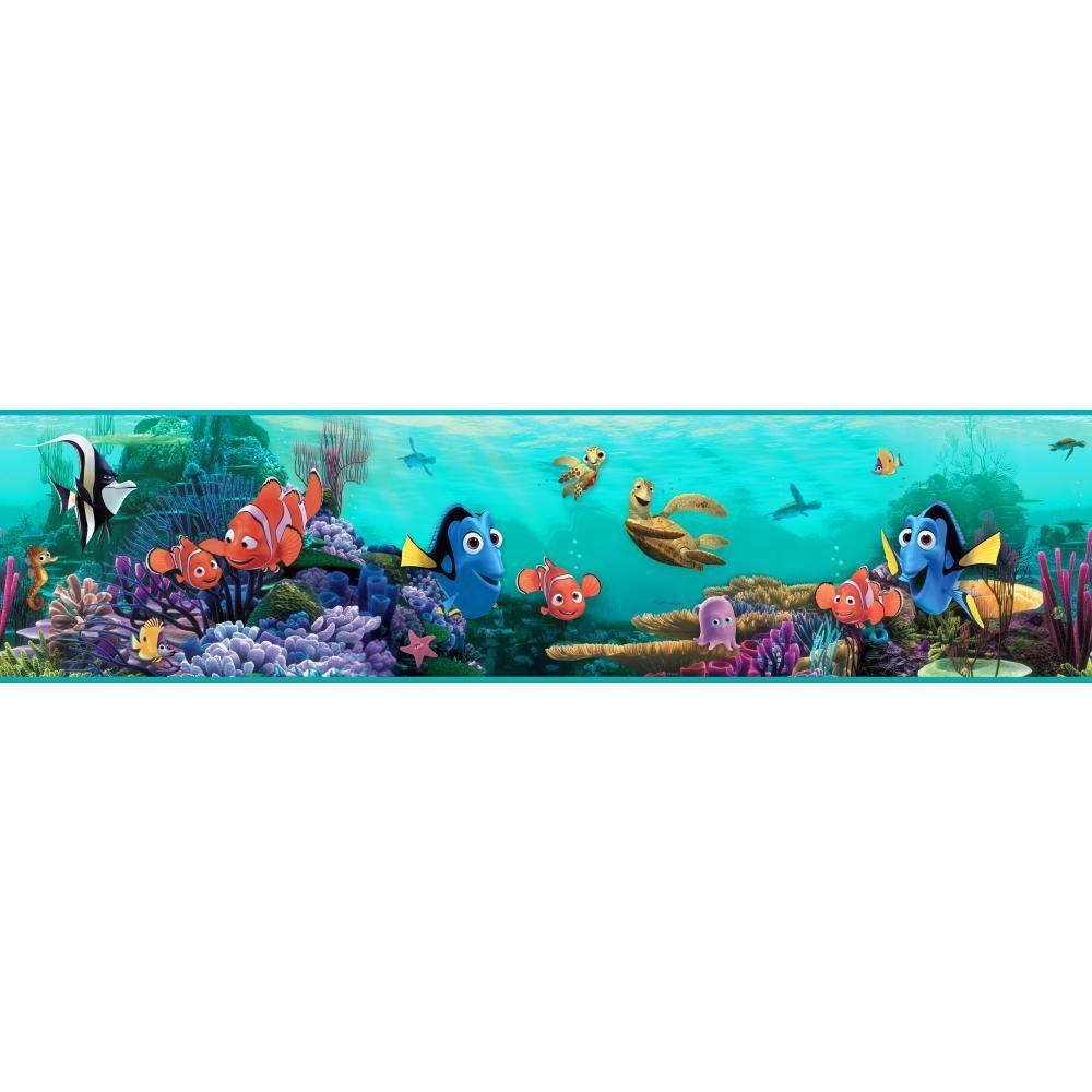 York Wallcoverings Walt Disney Kids II Nemo Under Water Wallpaper Border