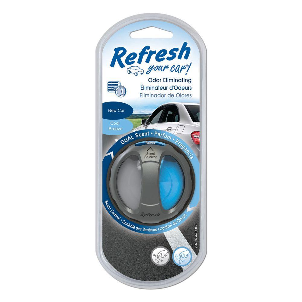 1a01cb73049 Refresh Your Car. New Car and Cool Breeze Odor Eliminating Dual Scented Oil  Diffuser
