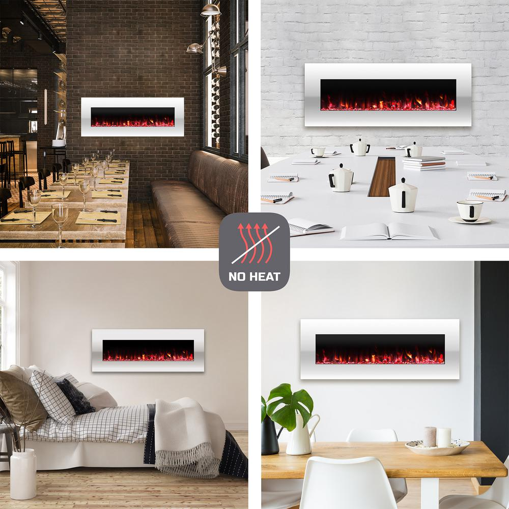 Marvelous Northwest 50 In No Heat Electric Fireplace Color Changing Wall Floor Stand In White Download Free Architecture Designs Intelgarnamadebymaigaardcom