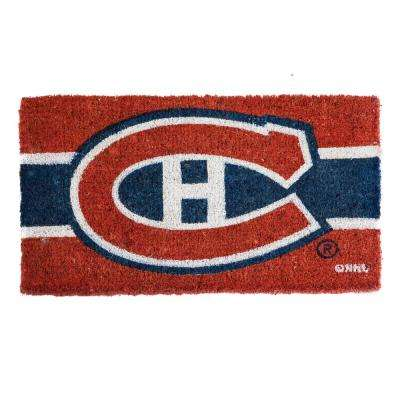 Montreal Canadiens 18 in. x 30 in. Welcome Mat