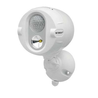 NetBright Networked 120° White Motion Sensing OutdoorSpotlight