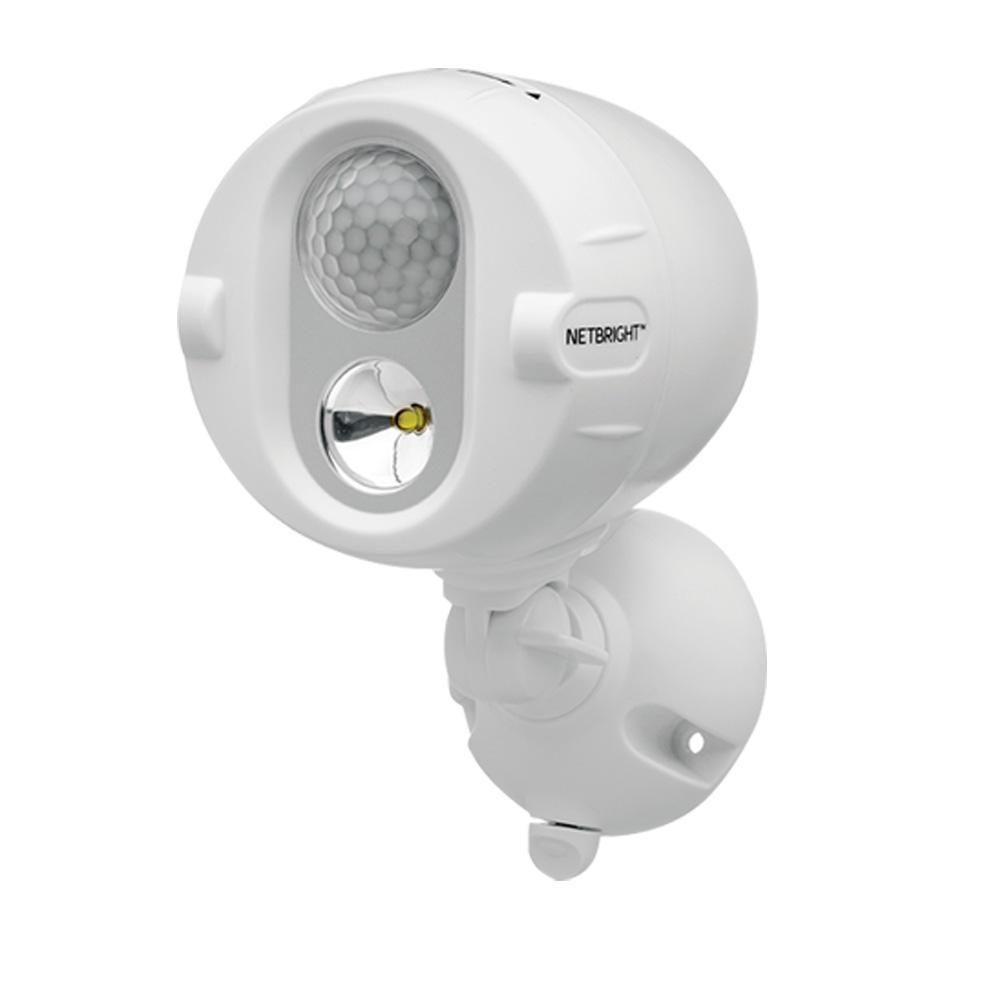 NetBright Networked 120° White Motion Sensing OutdoorSpotlight