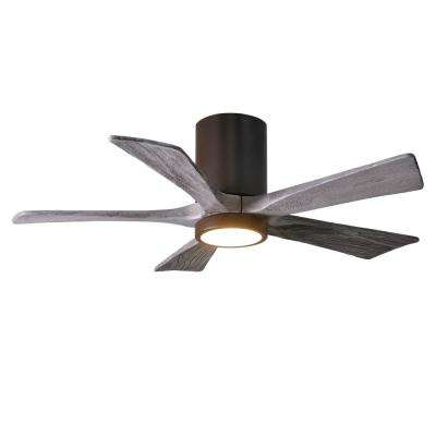 Irene 42 in. LED Indoor/Outdoor Damp Textured Bronze Ceiling Fan with Light with Remote Control, Wall Control