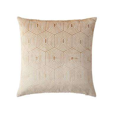 Morgan Home 18 in. Harper Gold Geometric Throw Pillow Cover