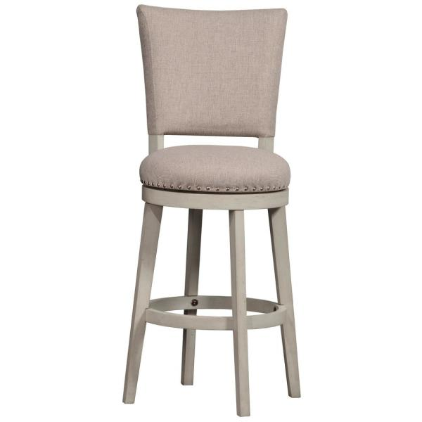 Hillsdale Furniture Elder Park 26 in. White Sands/Oatmeal Swivel Counter Stool