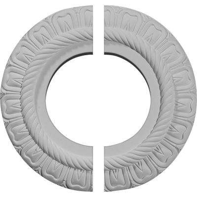 9 in. x 4-1/2 in. x 1/2 in. Claremont Urethane Ceiling Medallion, 2-Piece (Fits Canopies up to 5-5/8 in.)