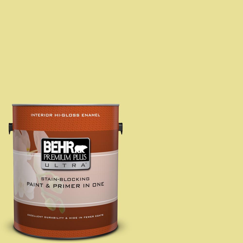 1 gal. #P340-3 Reviving Green Hi-Gloss Enamel Interior Paint