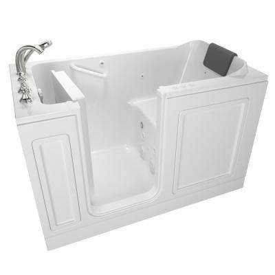 Acrylic Luxury 60 in. Left Hand Walk-In Whirlpool and Air Bathtub in White