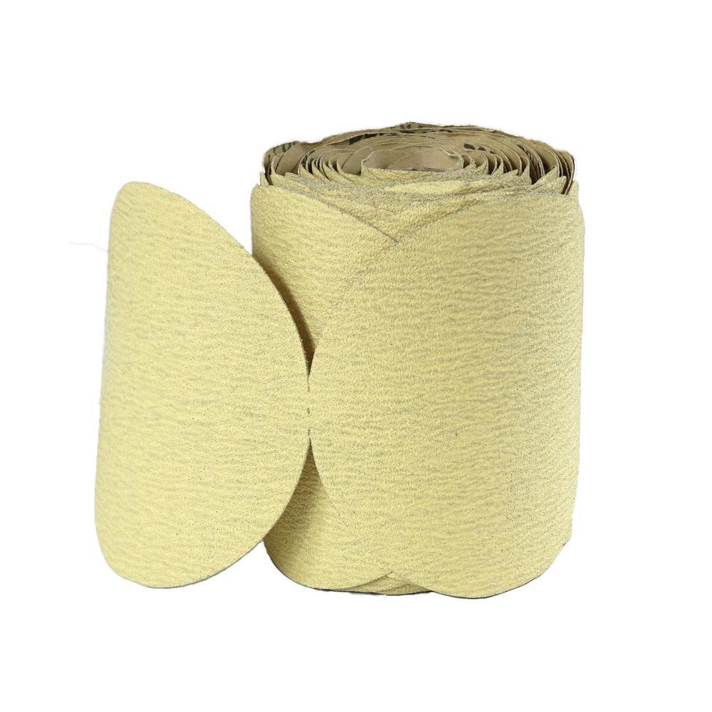 6 in. 220-Grit Aluminum Oxide PSA Sanding Disc Roll (100-Pack)