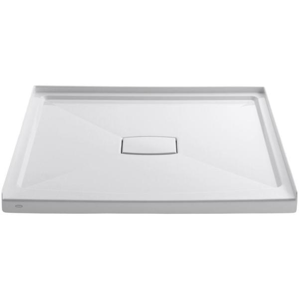 Archer 48 in. x 48 in. Single Threshold Shower Base with Center Drain and Removable Drain Cover in White