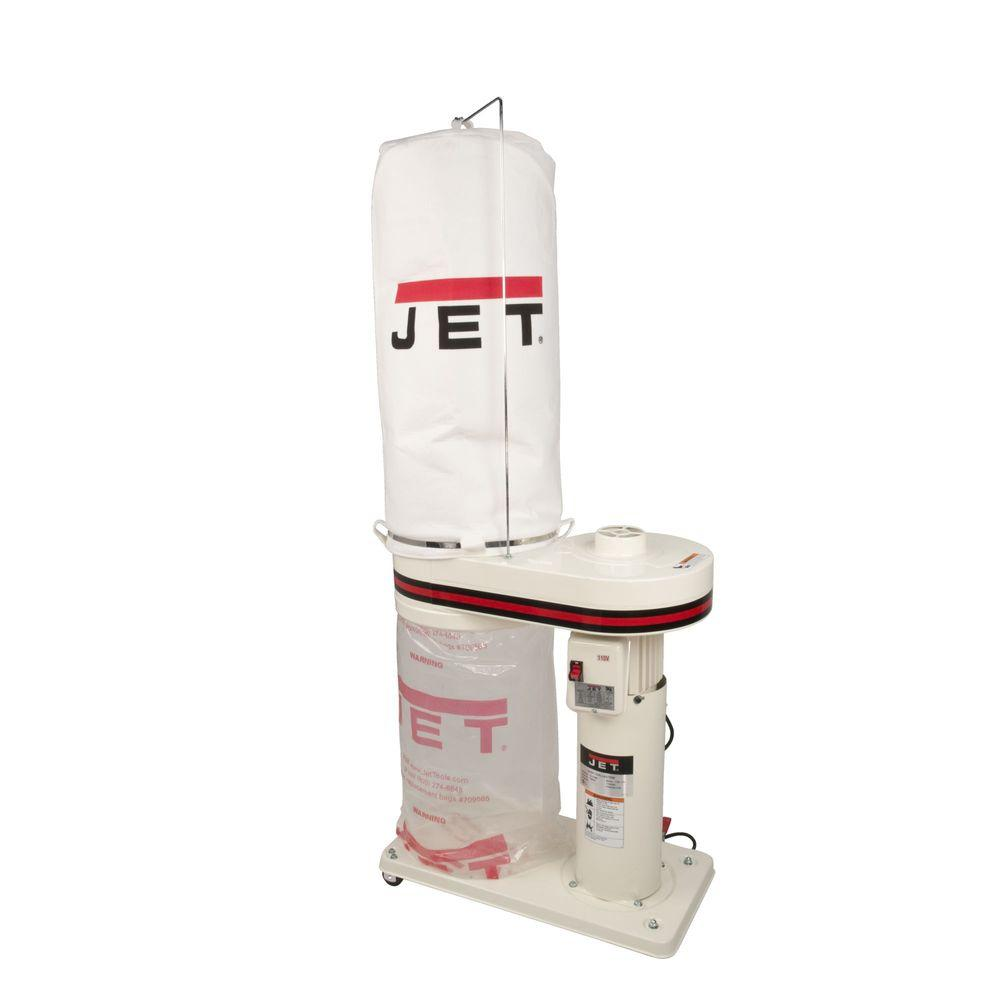 1 HP 650 CFM 4 in. Dust Collector with 5-Micron Bag