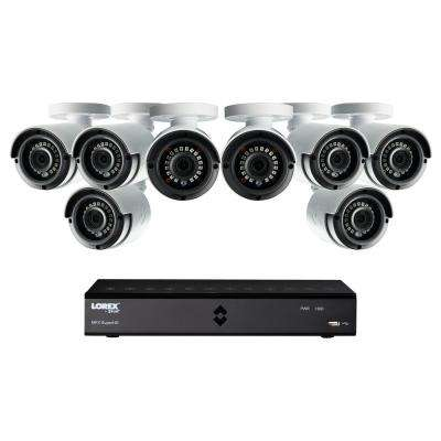 8-Channel 1080p High Definition 1TB HDD Surveillance DVR System with 81080p HD Indoor/Outdoor Wired Cameras and Remote
