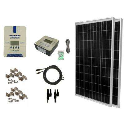 200-Watt Off-Grid Polycrystalline Solar Panel Kit with TrakMax MPPT 40 Amp Solar Charge Controller and Remote Meter