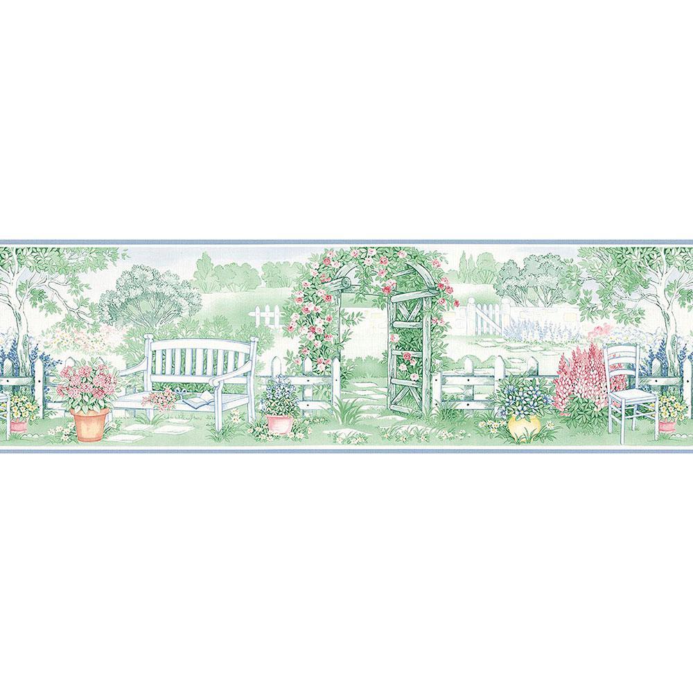 Garden Gate Wallpaper Border