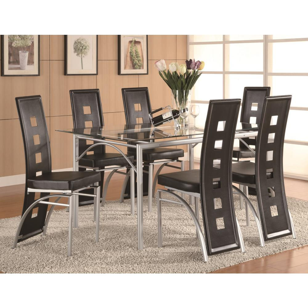 Coaster Furniture Contemporary Black Leatherette with Key...