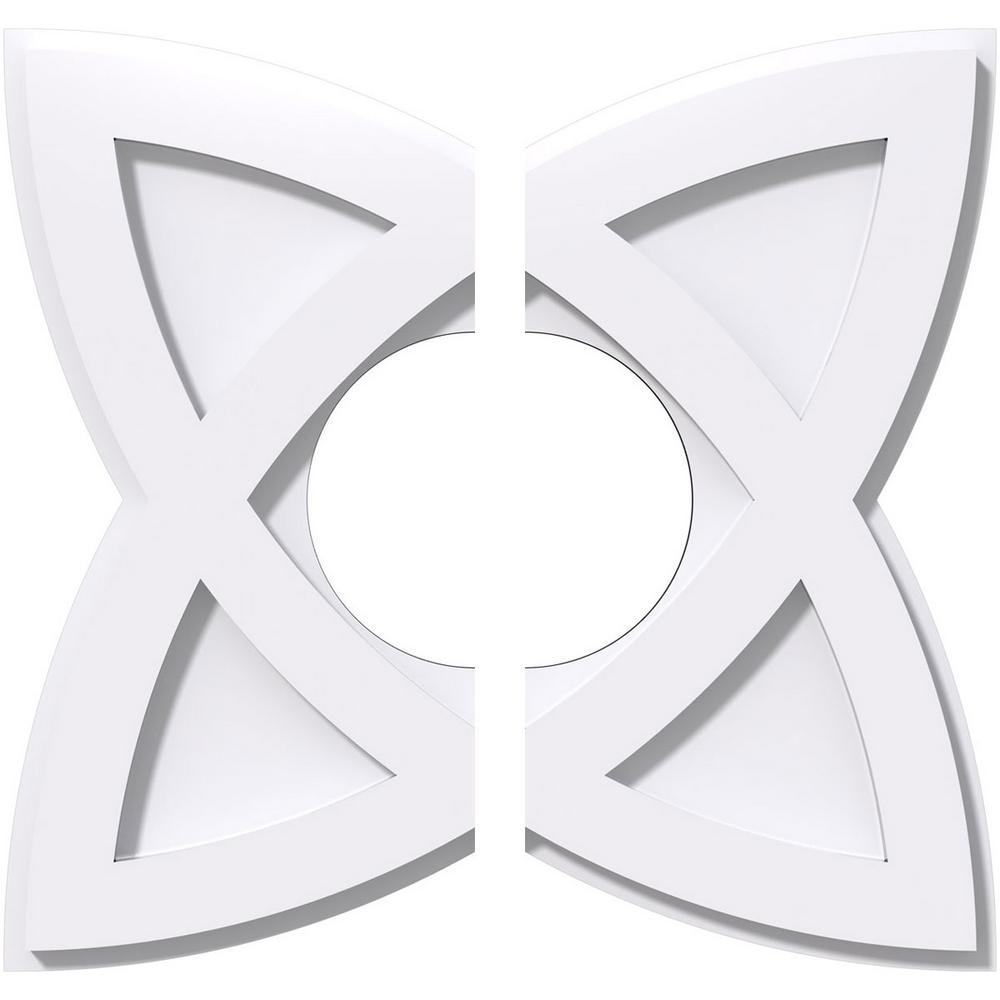 14 in. OD x 5 in. ID x 1 in. P Cosmo Architectural Grade PVC Contemporary Ceiling Medallion (2-Piece)