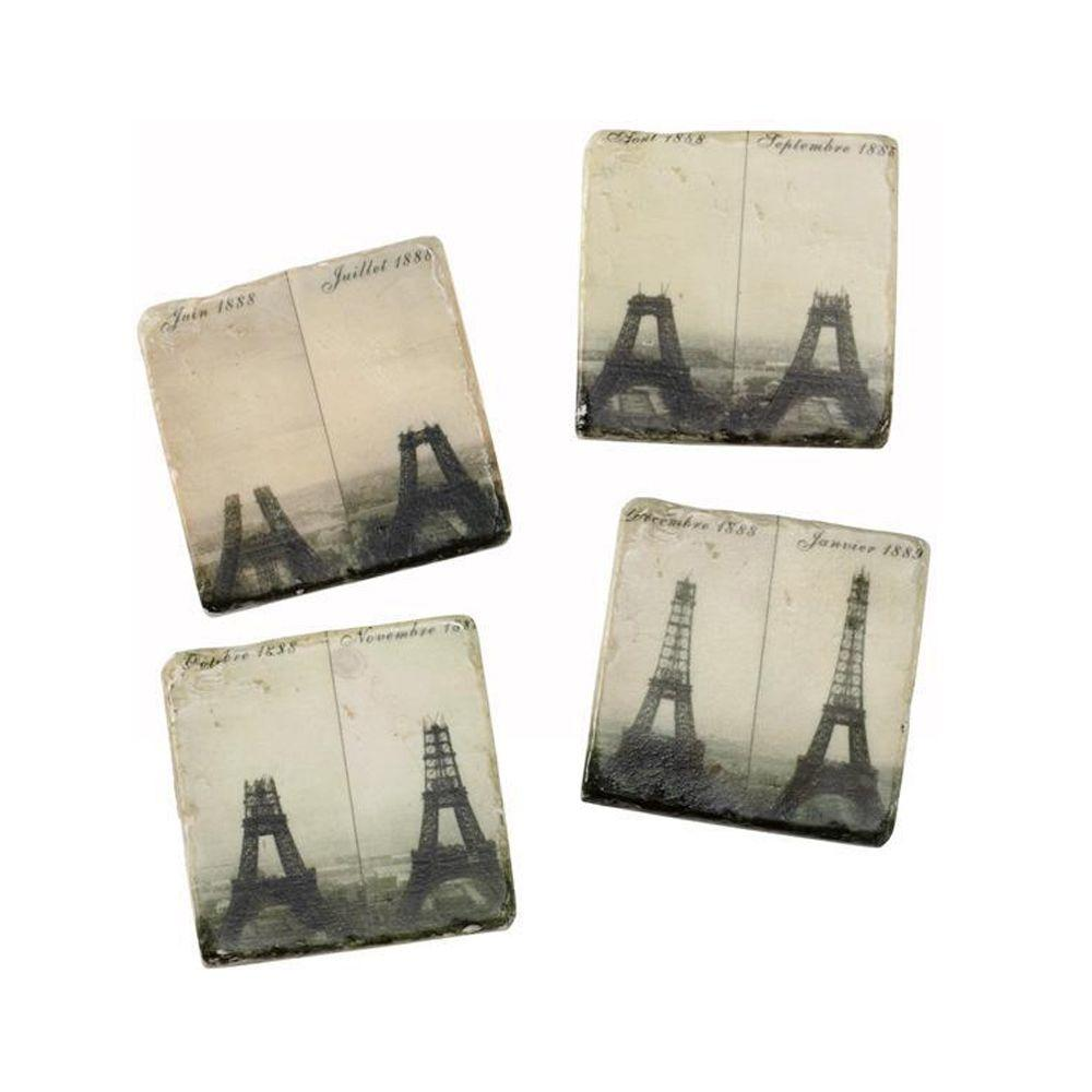 Home Decorators Collection French Market Eiffel Tower Coasters