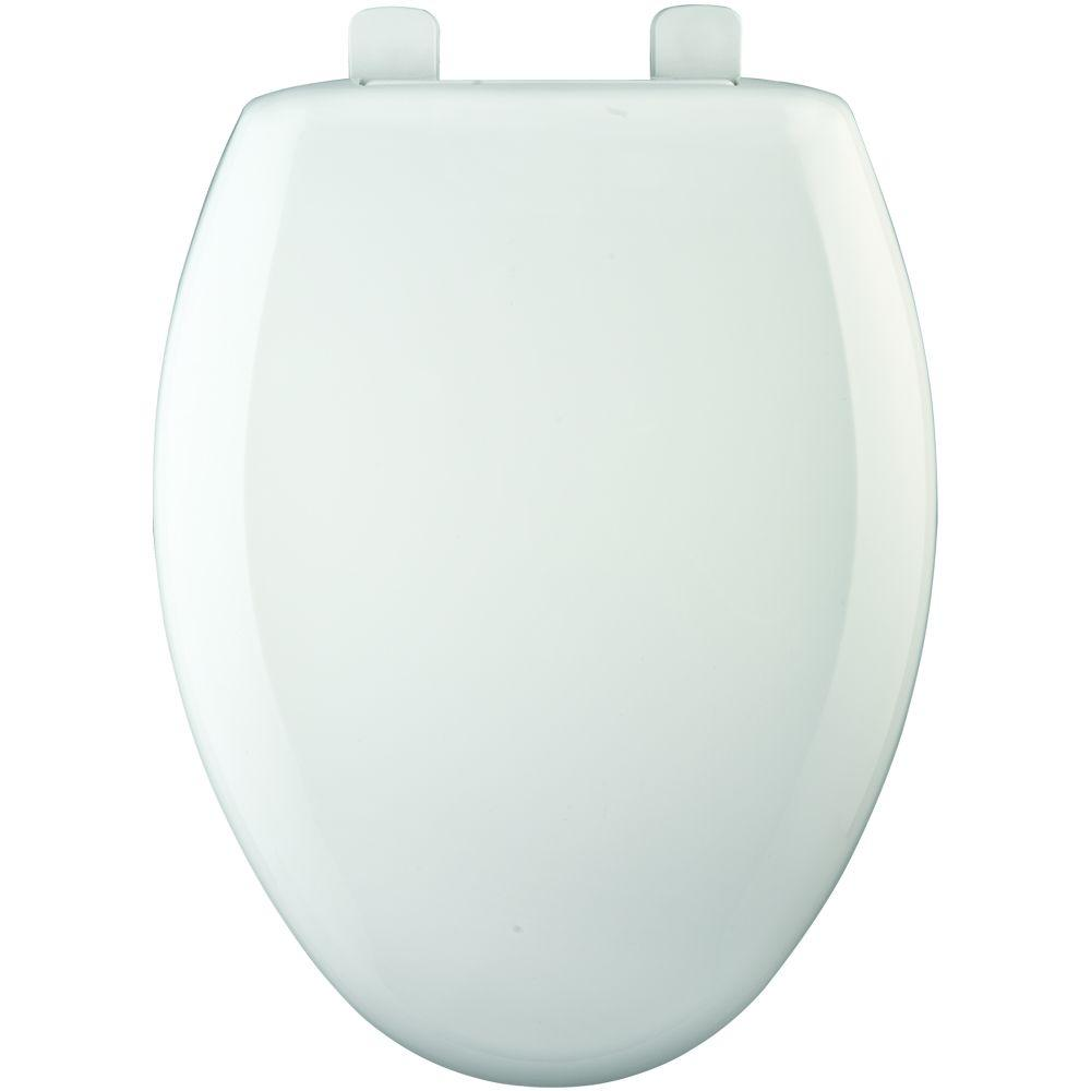 Elongated Closed Front Toilet Seat with Cover in White