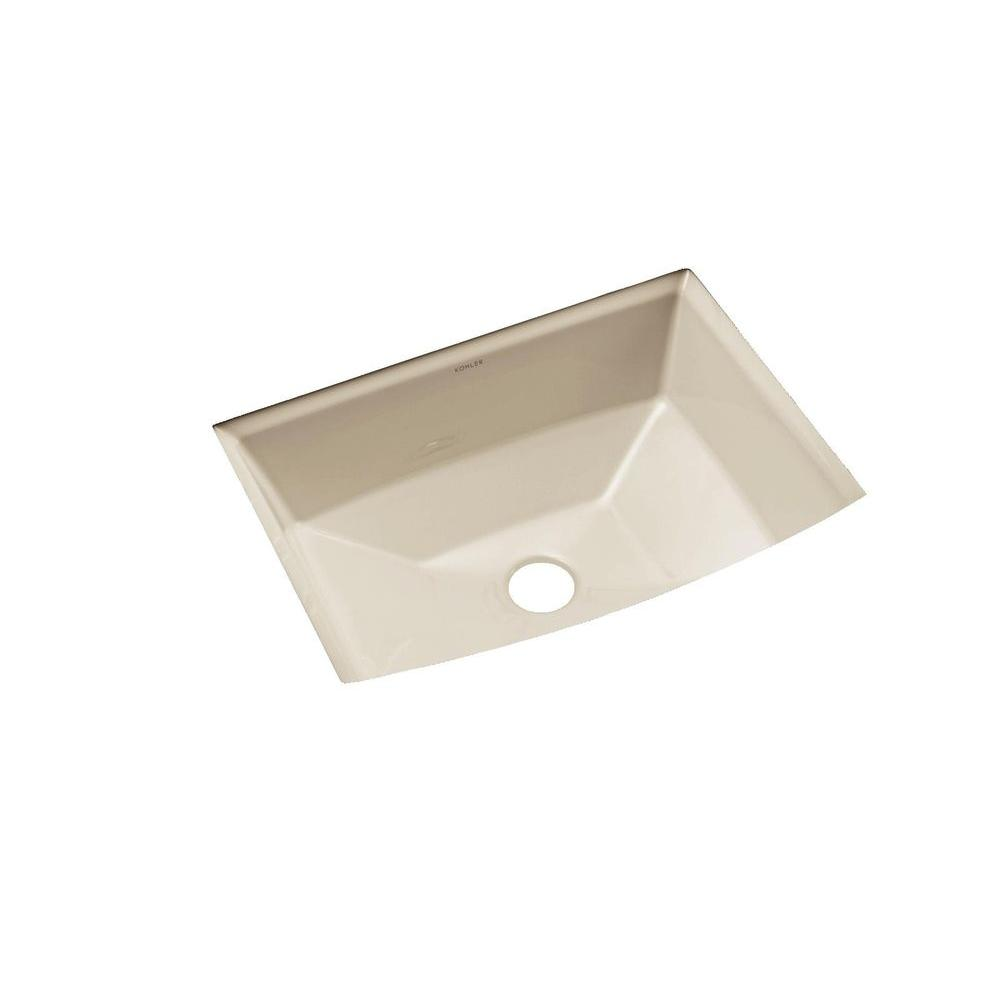 Vallé Undermount Porcelain Sink Vanity Bisque 7 5 8 Deep Thumbnail