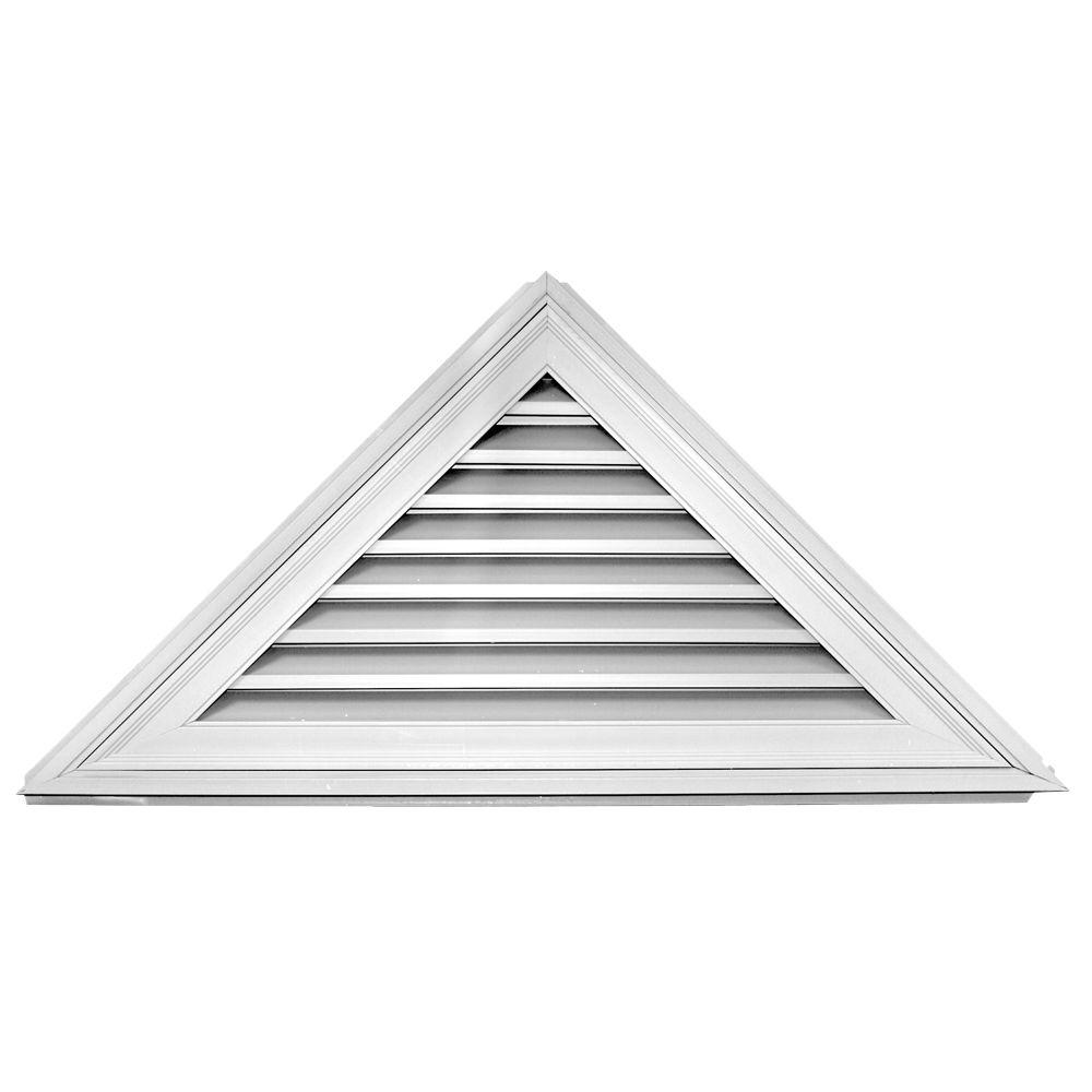 Builders Edge 12/12 - 52 in. x 26 in. Triangle Gable Vent #001 White