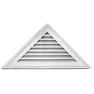 12/12 - 52 in. x 26 in. Triangle Gable Vent #001 White