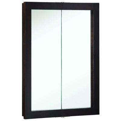 Ventura 24 in. W x 30 in. H x 6 in. D Framed Surface-Mount Bi-View Bathroom Medicine Cabinet in Espresso