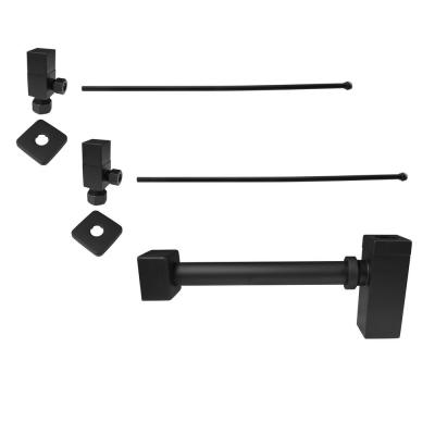 1-1/4 in. x 1-1/4 in. Brass Qubic Trap Lavatory Supply Kit, Matte Black