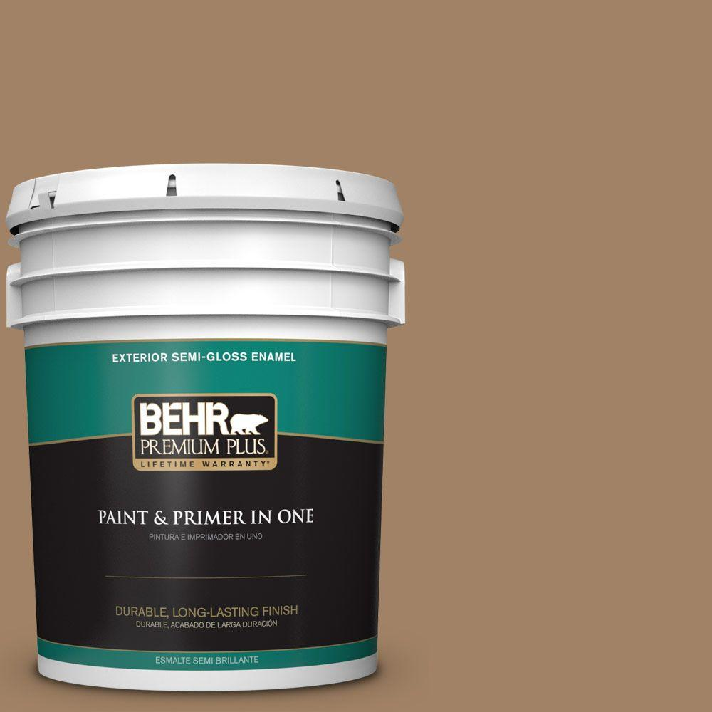 BEHR Premium Plus 5-gal. #280F-5 New Chestnut Semi-Gloss Enamel Exterior Paint