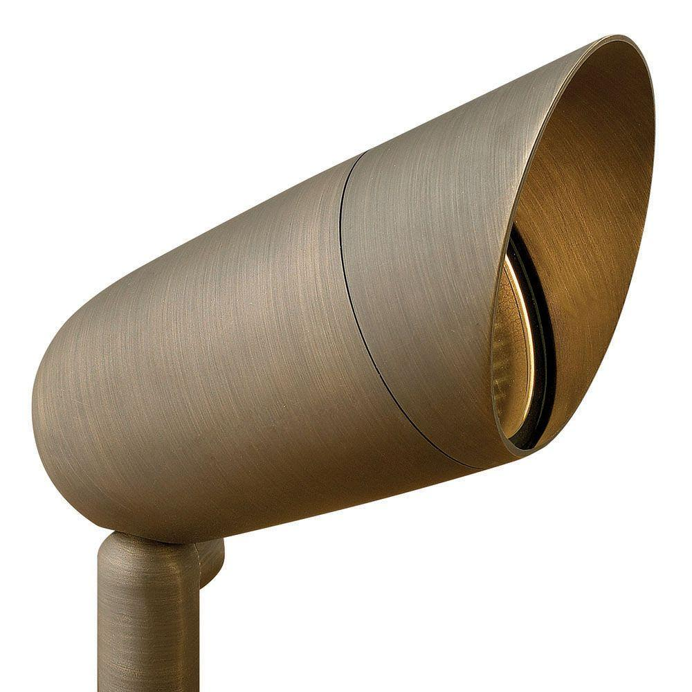 Hinkley Lighting 75-Watt Equivalent Low-Voltage 30 Degree Matte Bronze LED Hardy Island Cast Brass Spot Light