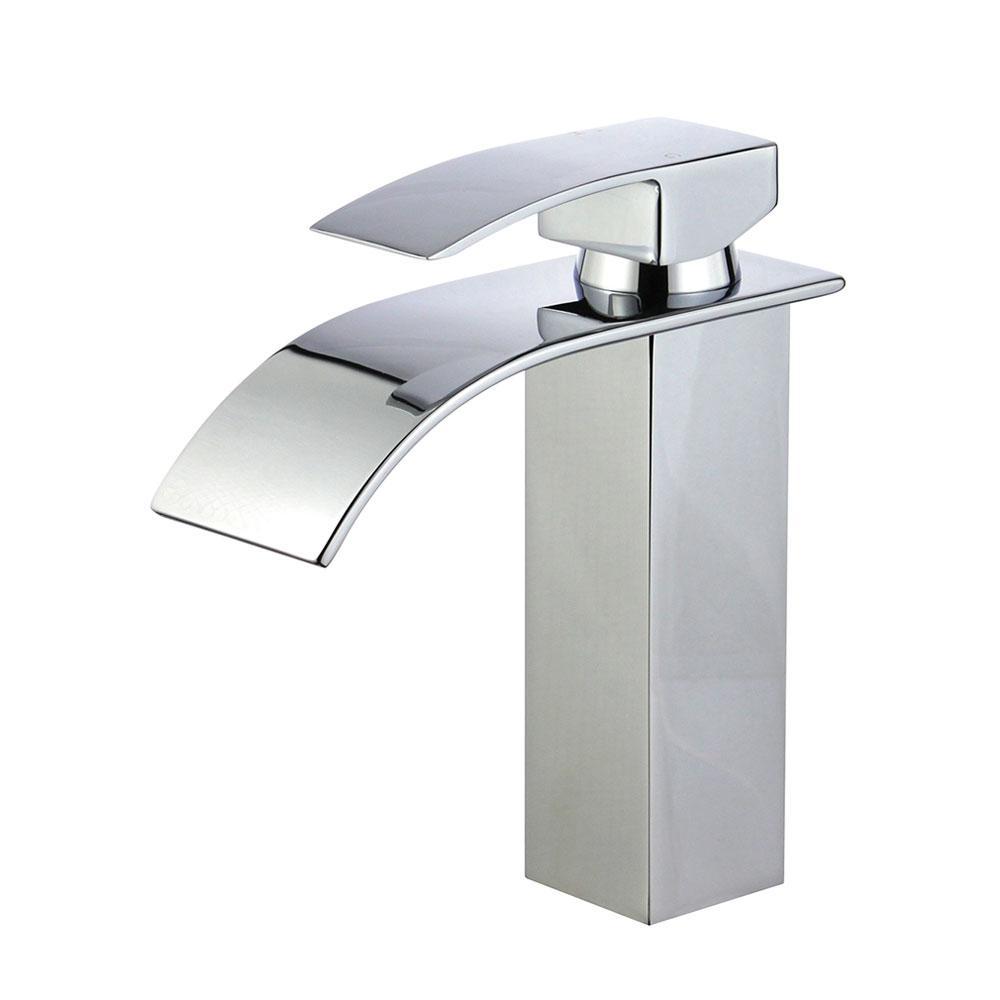 Santiago Single Hole Single-Handle Bathroom Faucet in Polished Chrome