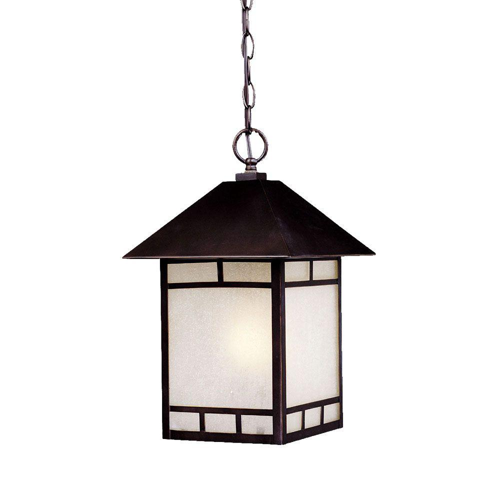 Acclaim Lighting Artisan Collection 1-Light Architectural Bronze Outdoor Hanging Lantern