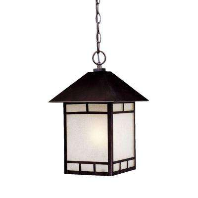 Artisan Collection 1-Light Architectural Bronze Outdoor Hanging Lantern