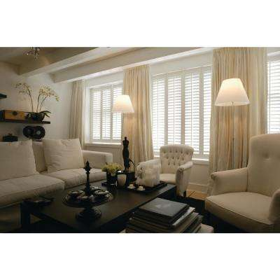 Interior Plantation Shutters Home Depot window shutter in white color a long bench under the windows with light cream mattress and Diy Composite Wood Shutter