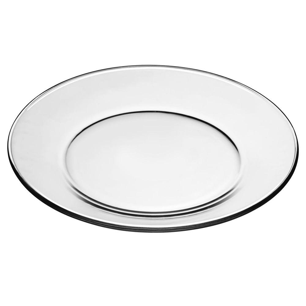 Libbey 10.5 in. Diameter Moderno Dinner Plate in Clear (Box of 12)