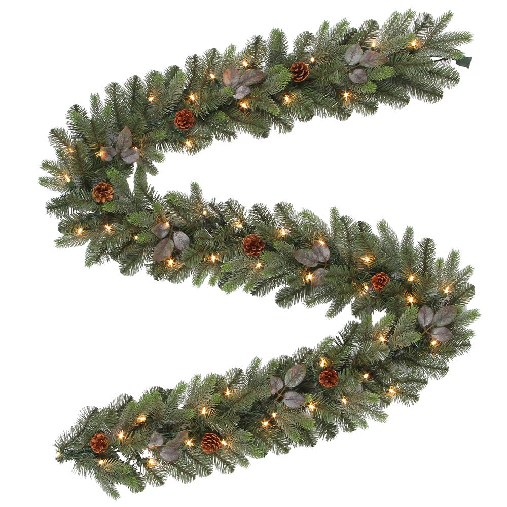 pre lit artificial greenland christmas garland with 217 tips