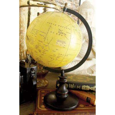 Nautical Wood and Plastic Sepia Globe