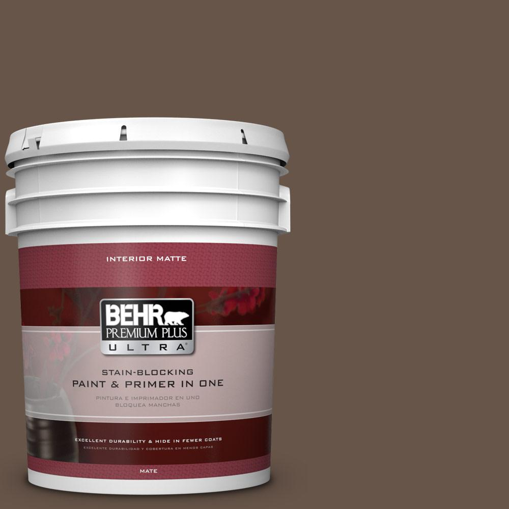 BEHR Premium Plus Ultra 5 gal. #BXC-79 Center Earth Matte Interior Paint