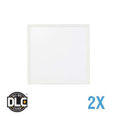 2 ft. x 2 ft. Flat Panel 5000K 120-Watt Equivalent White Edge-Lit Integrated LED Troffer