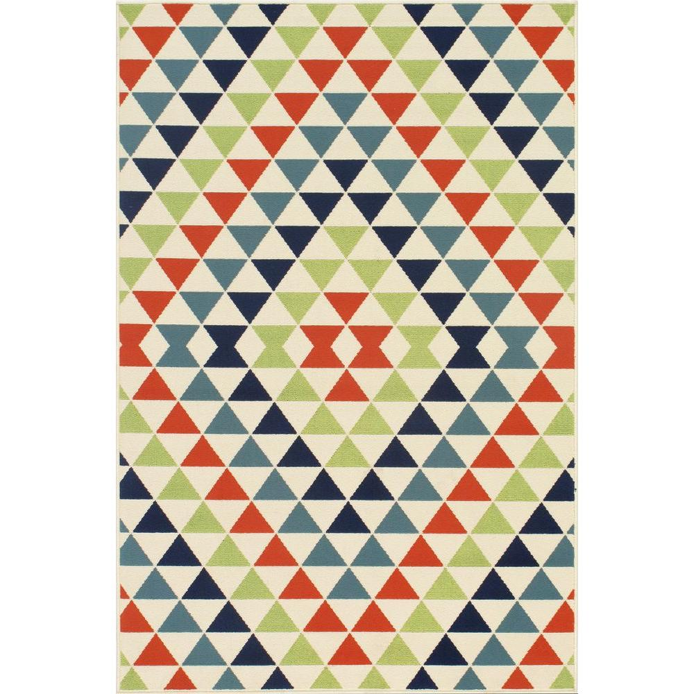 Momeni Baja Multi 1 ft. 8 in. x 3 ft. 7 in. Indoor/Outdoor Area Rug