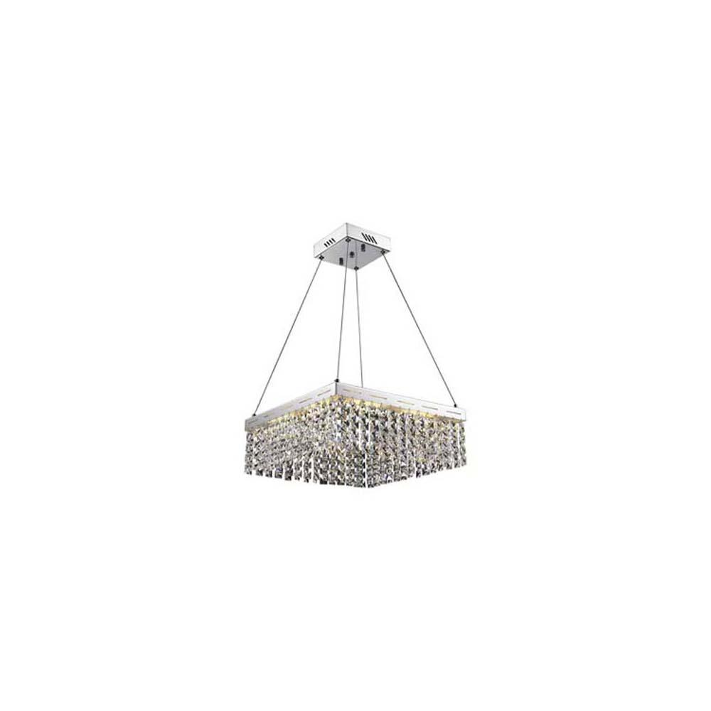 24-Light Polished Chrome Chandelier with Shade