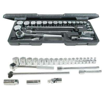 1/2 in. Drive Blow Molded 12-Point Hand Socket & Accessories Set (25-Piece)