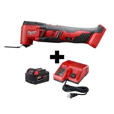 M18 18-Volt Lithium-Ion Cordless Oscillating Multi-Tool W/ M18 Starter Kit W/ (1) 5.0Ah Battery and Charger