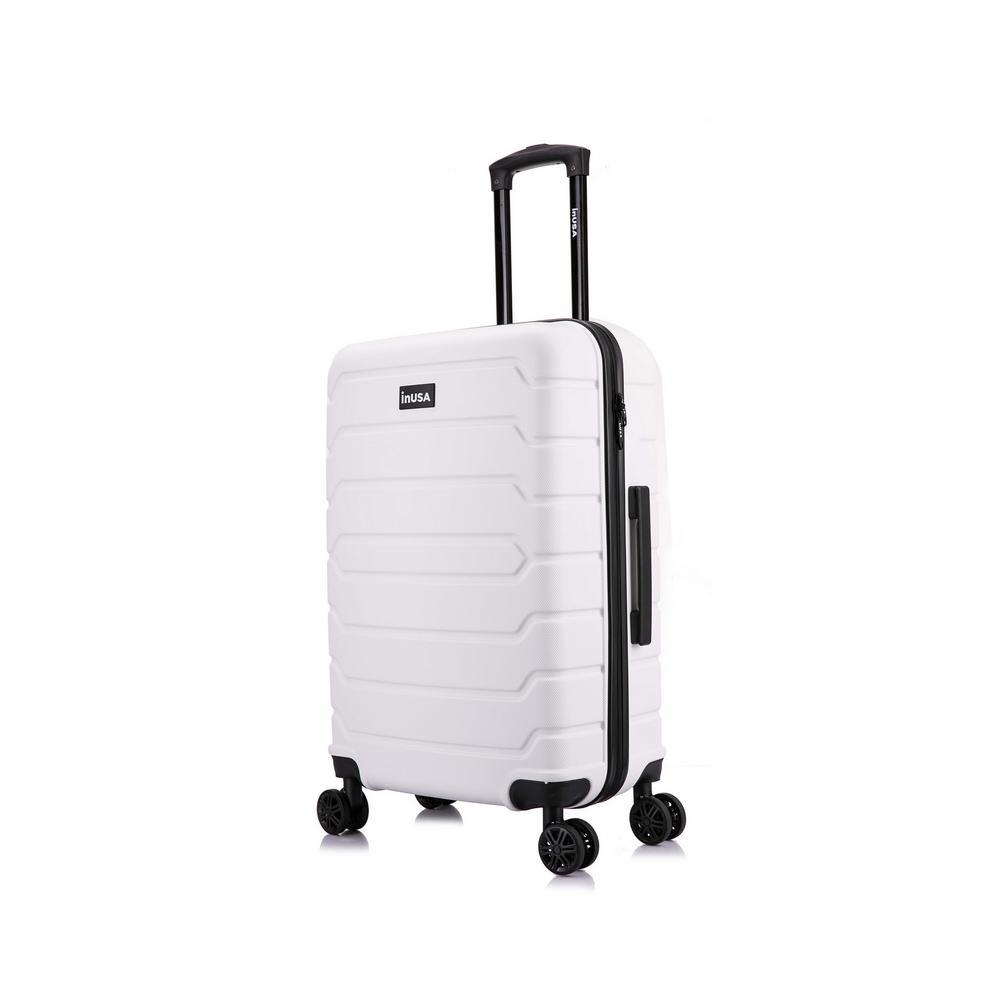 Trend 24 in. White Lightweight Hardside Spinner Suitcase