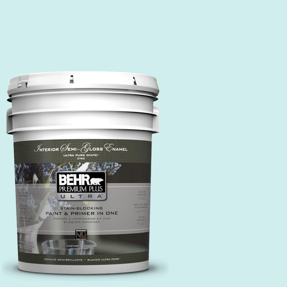 5-gal. #490A-1 Teal Ice Semi-Gloss Enamel Interior Paint