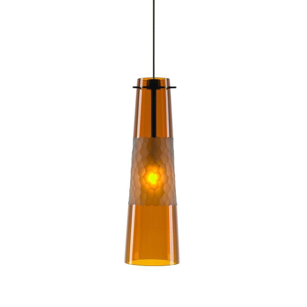 Bonn 1-Light Amber Bronze Hanging Mini Pendant