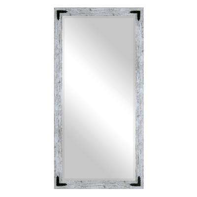 Layla Justine Rectangle Weathered White Floor Mirror