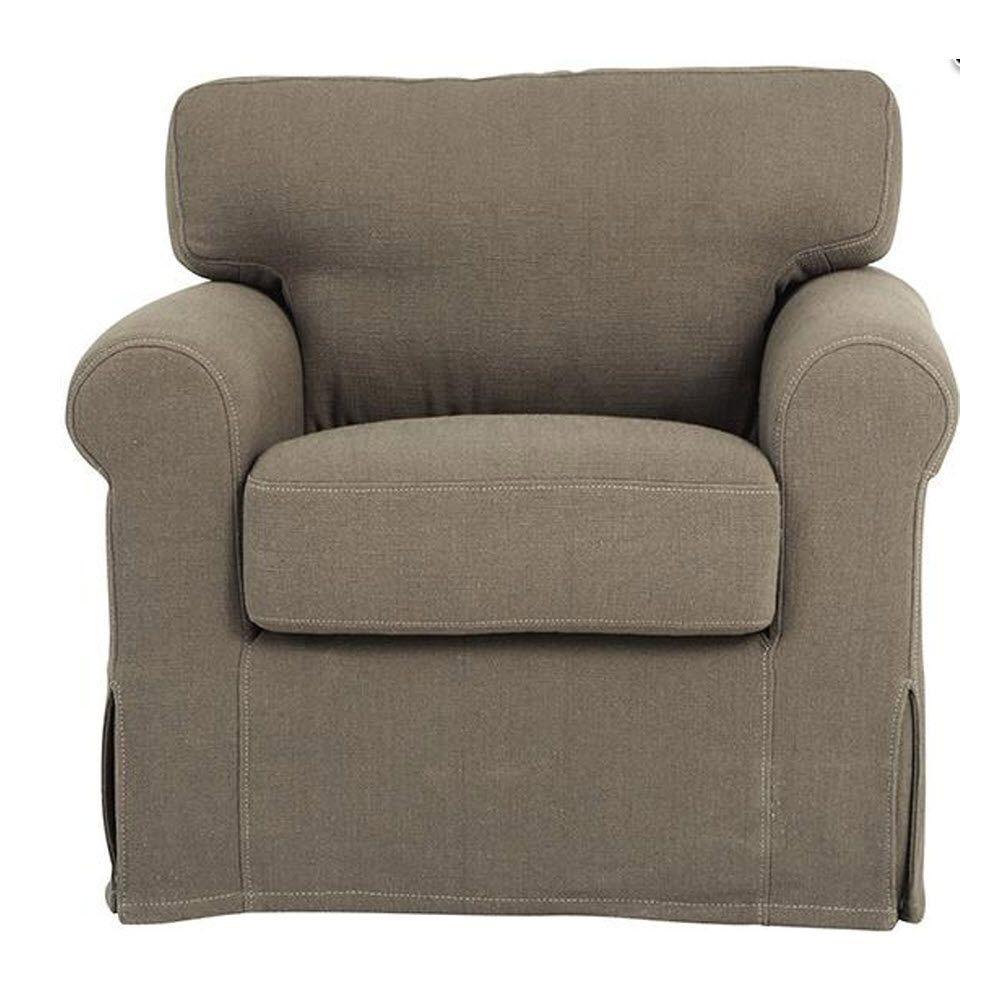 Sophie Dark Grey Linen Kid's Armchair